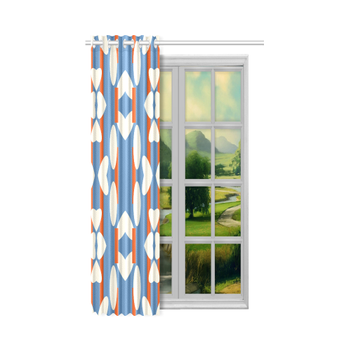 """Red stripes New Window Curtain 50"""" x 84""""(One Piece)"""