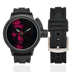 ART SKULL WATCH RED Men's Sports Watch(Model 309)