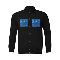 Abstract Blue Floral Design 2020 Men's Baseball jacket (Model H12)