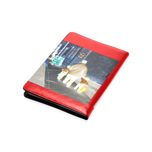 Ghosts roaming the street (red) Custom NoteBook A5