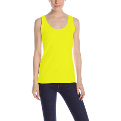 Bright Neon Yellow All Over Print Tank Top for Women (Model T43)