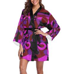 Abstract #18 Long Sleeve Kimono Robe