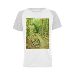 DSC_4149 Men's Raglan T-shirt (USA Size) (Model T11)