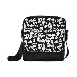 Panda Pattern Crossbody Nylon Bags (Model 1633)