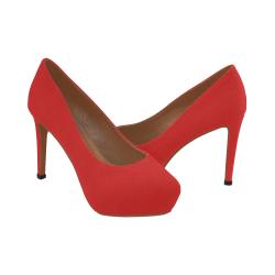 zapato de tacon de mujer en rojo Women's High Heels (Model 044)