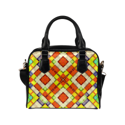 colorful geometric pattern Shoulder Handbag (Model 1634)