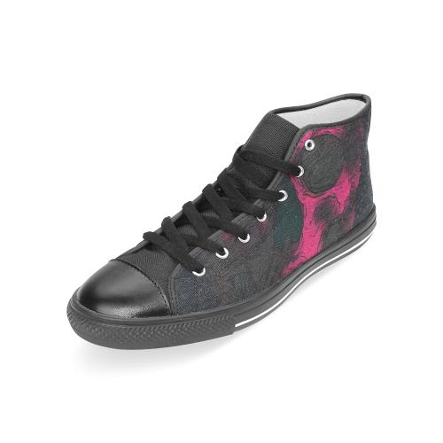SKULL ART PUNK CRASSCO WOMEN Women's Classic High Top Canvas Shoes (Model 017)