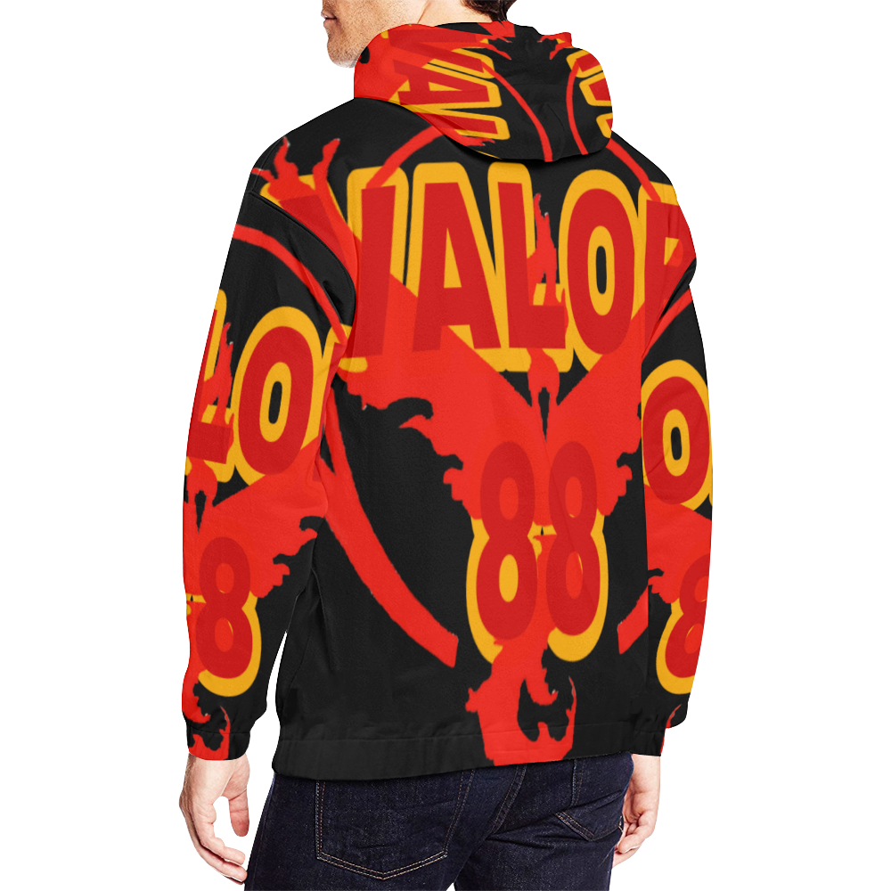 Valor 88 All Over Print Hoodie for Men (USA Size) (Model H13)