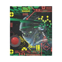 "Futuristic Sci-Fi Robot Cotton Linen Wall Tapestry 51""x 60"""