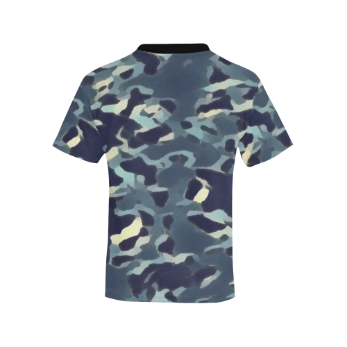 CAMOUFLAGE BLUE WASHED-OUT Kids' All Over Print T-shirt (Model T65)