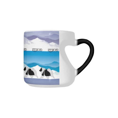 Keeshond Rockin the Rockies Heart-shaped Morphing Mug
