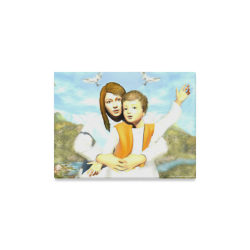 "Virgin Mary and the Child Jesus Canvas Print 16""x12"""