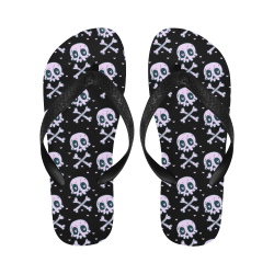 Skulls_Wallpaper_Flip Flip Flops for Men/Women (Model 040)