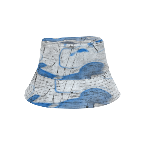 PAINTING ABSTRACT IN BLUE LADYLIKE All Over Print Bucket Hat