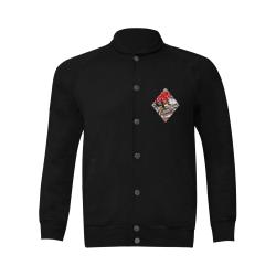 Diamond Playing Card Shape - Las Vegas Icons Men's Baseball jacket (Model H12)