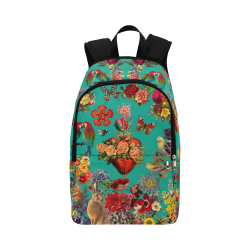 Corazon Teal Fabric Backpack for Adult (Model 1659)