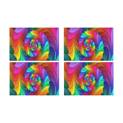 RAINBOW CANDY SWIRL Placemat 12'' x 18'' (Four Pieces)