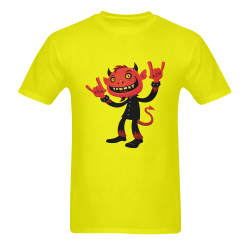 Heavy Metal Devil Men's T-Shirt in USA Size (Two Sides Printing)