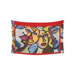 "I M DIFFERENT WALL TAP RED Cotton Linen Wall Tapestry 60""x 40"""