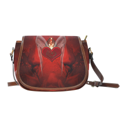 Heart with wings Saddle Bag/Small (Model 1649) Full Customization
