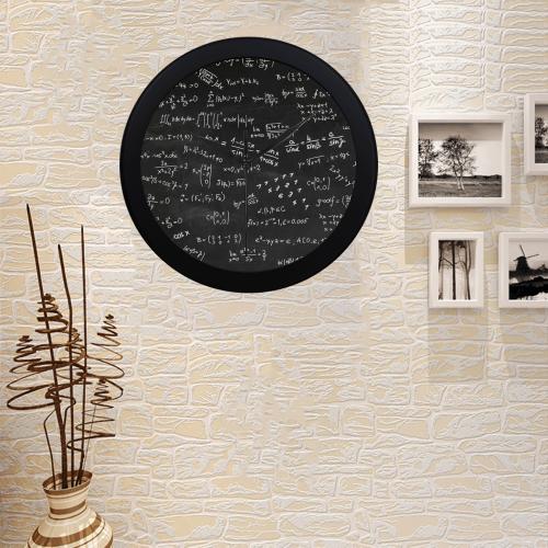 Mathematics Formulas Equations Numbers Circular Plastic Wall clock