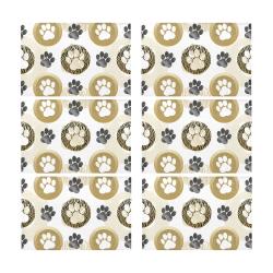 Pet Pawprints Placemat 12'' x 18'' (Six Pieces)