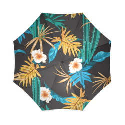 Gorgeous Tropical Pattern Unmbrella Foldable Umbrella (Model U01)