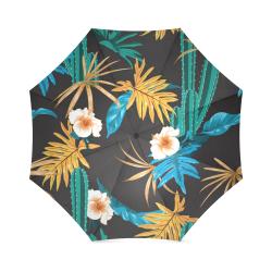 Gorgeous Tropical Pattern Unmbrella Foldable Umbrella (Model U01)