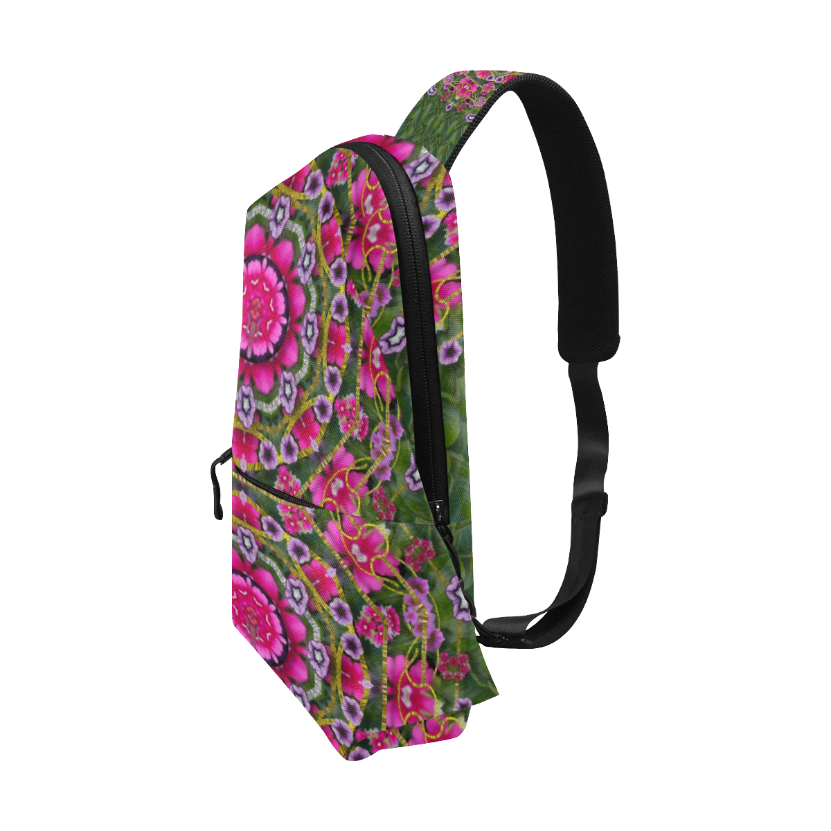 fantasy floral wreath in the green summer  leaves Chest Bag (Model 1678)