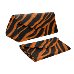 Ripped SpaceTime Stripes - Orange Custom Foldable Glasses Case