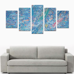 water PAINTING Canvas Print Sets D (No Frame)