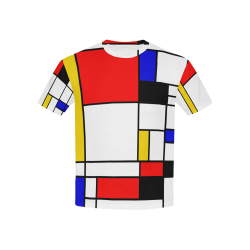 Bauhouse Composition Mondrian Style Kids' All Over Print T-shirt (USA Size) (Model T40)
