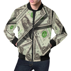DOLLARS All Over Print Bomber Jacket for Men (Model H19)