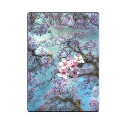 "Cherry blossomL Blanket 58""x80"""