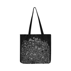 Picture Search Riddle - Find The Fish 2 Reusable Shopping Bag Model 1660 (Two sides)