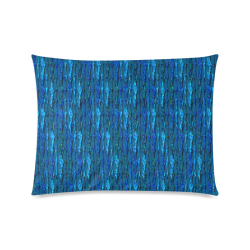 """Abstract Scales of Blue Strands Custom Zippered Pillow Case 20""""x26""""(Twin Sides)"""