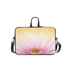 Gerbera Daisy - Pink Flower on Watercolor Yellow Macbook Pro 15''