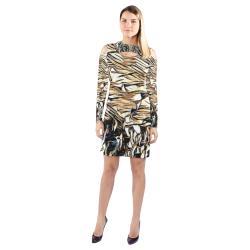 Beach Jazz Cold Shoulder Long Sleeve Dress (Model D37)