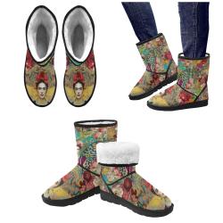 Frida Kahlo - Tuscany Custom High Top Unisex Snow Boots (Model 047)