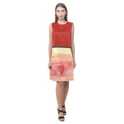 Radiating Heart Eos Women's Sleeveless Dress (Model D01)
