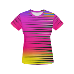 Spiked Sunset All Over Print T-Shirt for Women (USA Size) (Model T40)