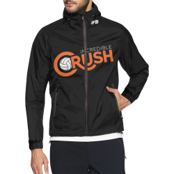 Crush Logo Wind Breaker - Black Unisex All Over Print Windbreaker (Model H23)