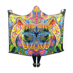 Barong Demon Psychedelic Blanket for Youth Hooded Blanket 60''x50''