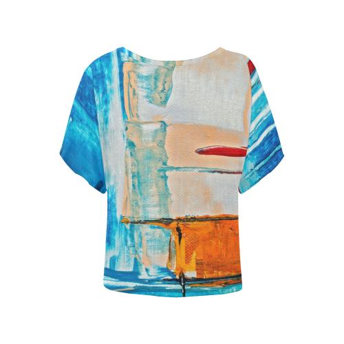 oil_h Women's Batwing-Sleeved Blouse T shirt (Model T44)