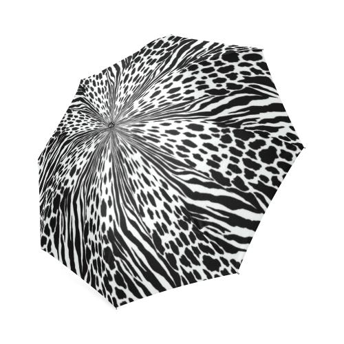 animal print 1 Foldable Umbrella (Model U01)