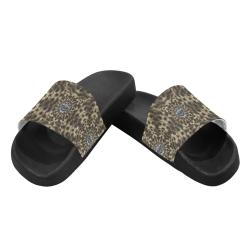 I am big cat with sweet catpaws decorative Men's Slide Sandals (Model 057)