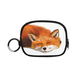 red fox art illustration by agnes laczo Coin Purse (Model 1605)