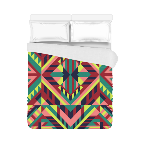 "Modern Geometric Pattern Duvet Cover 86""x70"" ( All-over-print)"
