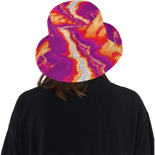 Neon Geode All Over Print Bucket Hat