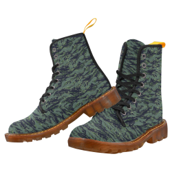 Jungle Tiger Stripe Green Camouflage Martin Boots For Women Model 1203H